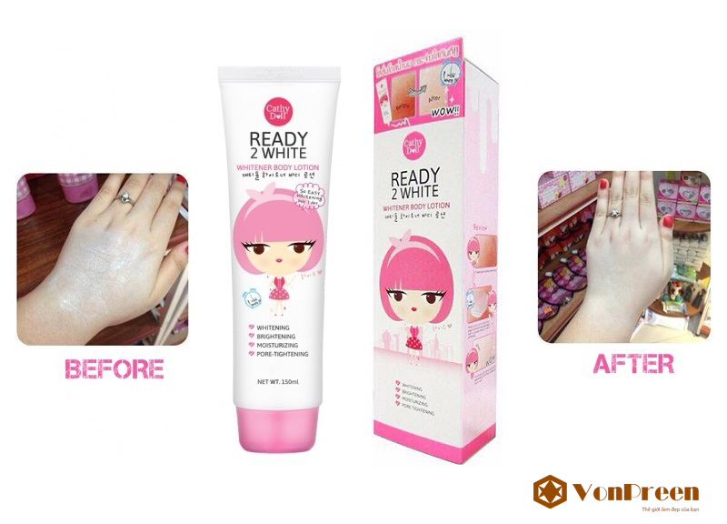 ready 2 white body lotion